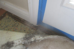 water-damage-door-jam-carpet